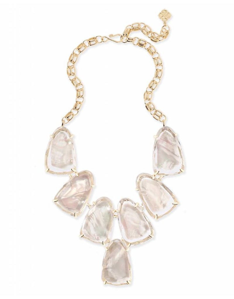 Kendra Scott Gold Harlow Ivory Mother Of Pearl