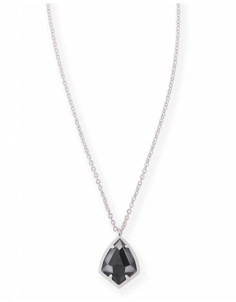 Kendra Scott Kendra Scott Cory Necklace Black on Silver
