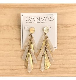Gold & Ivory Dangle Earrings