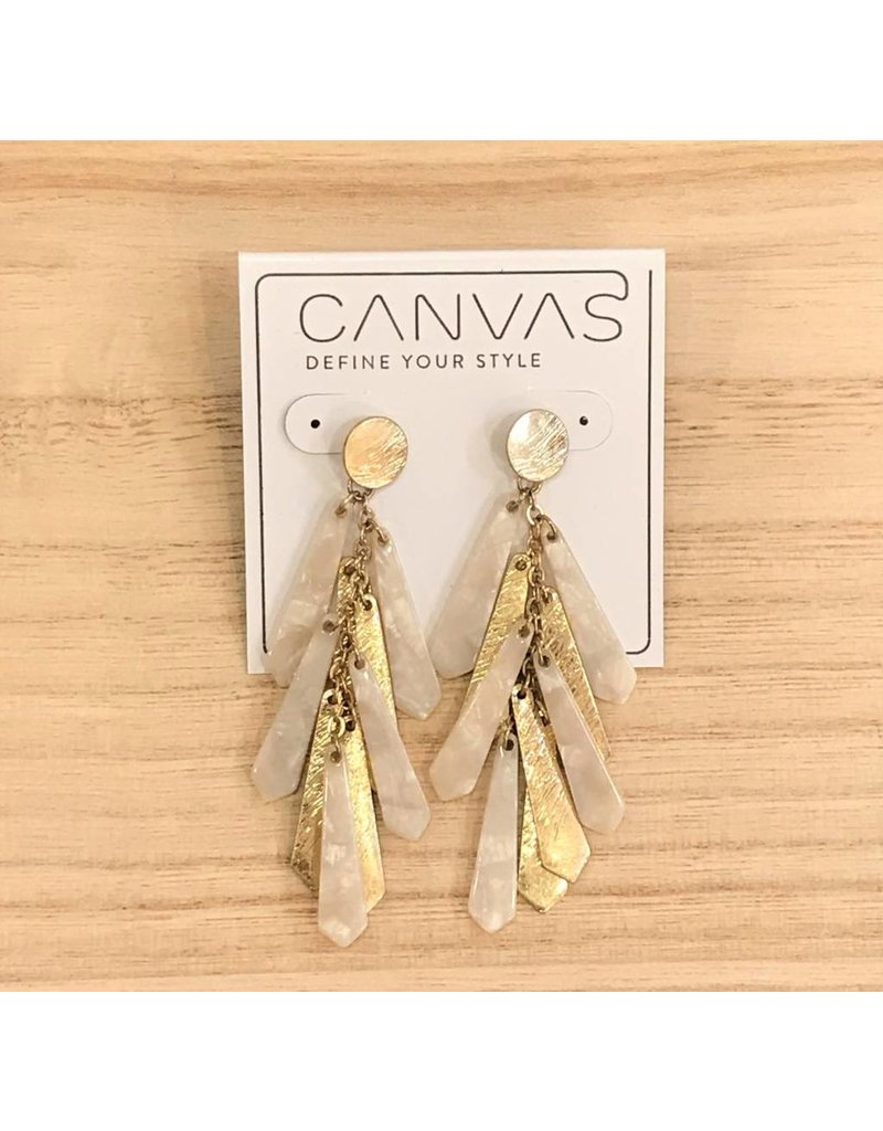 Gold & Ivory Dangle Earrings
