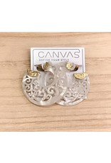 Ivory Filigree Earring