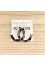 Grey Tortoise Earrings