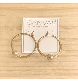 Hoop Earrings With Ivory Pearl