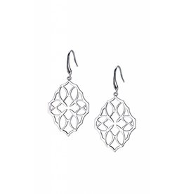 Natalie Wood Large Silver Believer Cross Earrings