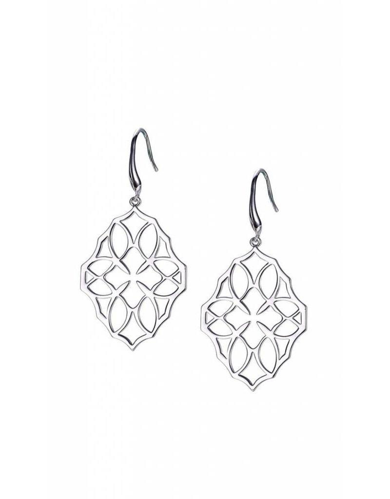 Natalie Wood Natalie Wood Silver Believer Lg. Cross Earrings