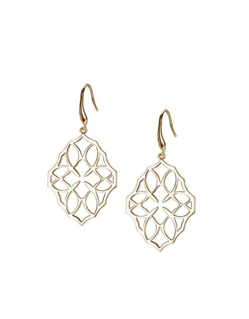 Natalie Wood Natalie Wood Large Gold Believer Cross Earrings