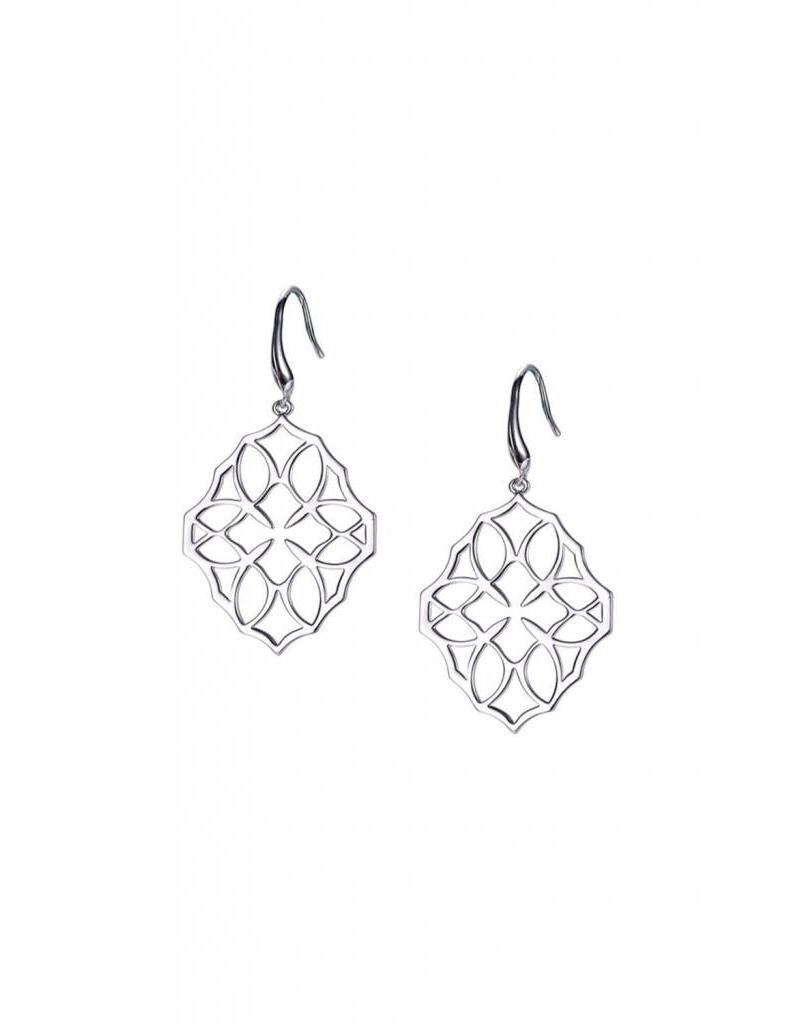 Natalie Wood Natalie Wood Small Silver Believer Cross Earrings