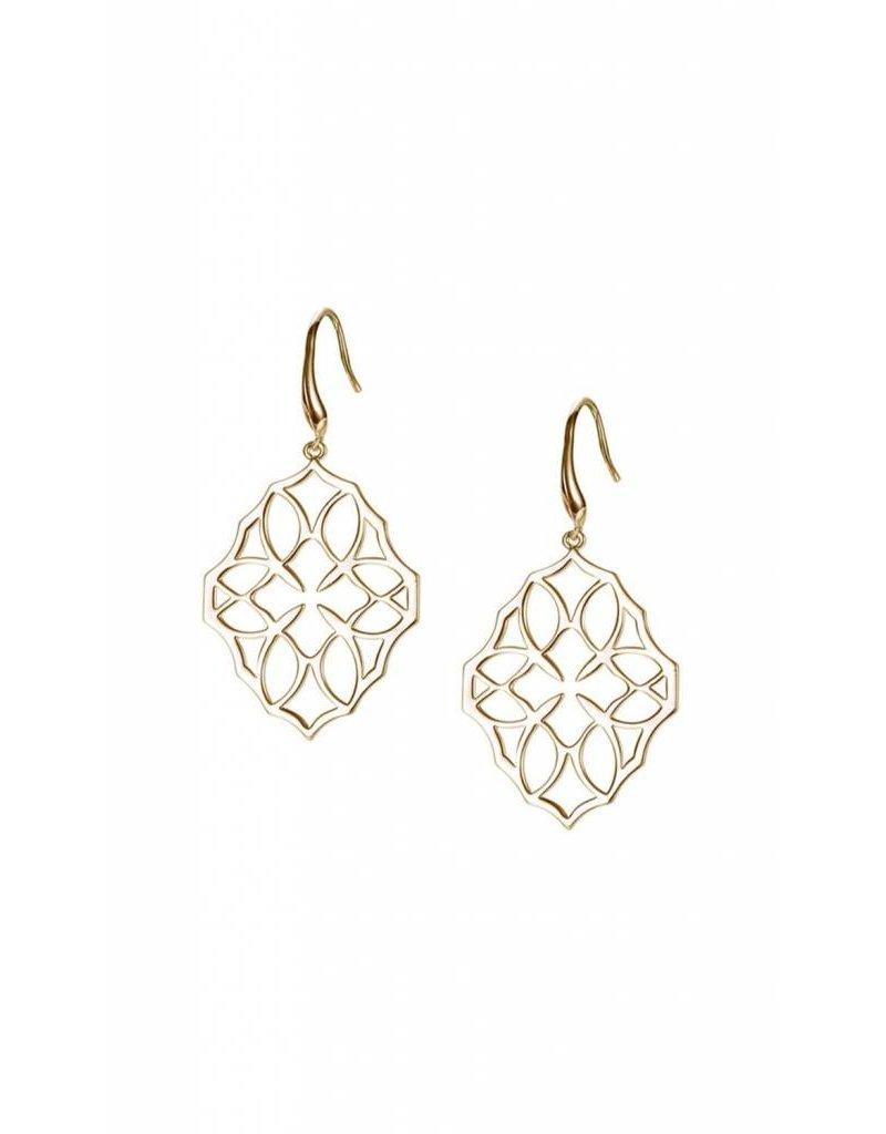 Natalie Wood Natalie Wood Small Gold Believer Cross Earrings