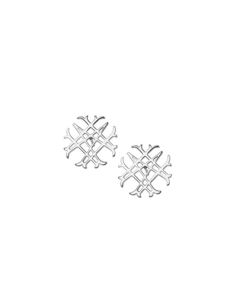 Natalie Wood Natalie Wood Silver Logo Stud Earrings