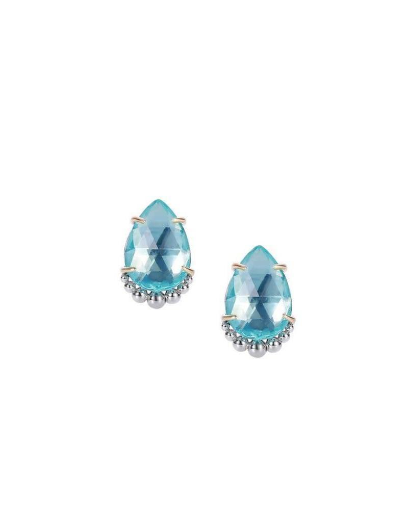Natalie Wood Blue Topaz Stud Earrings