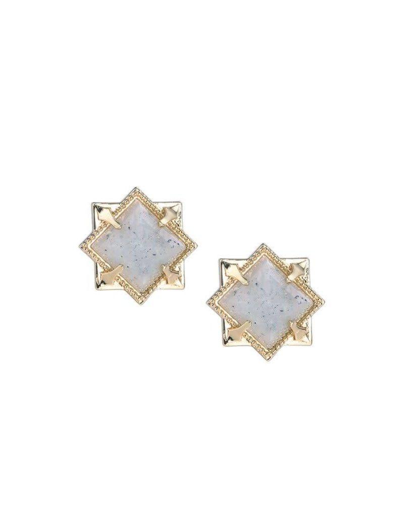 Natalie Wood Natalie Wood Labradorite Runaway Stud Earrings