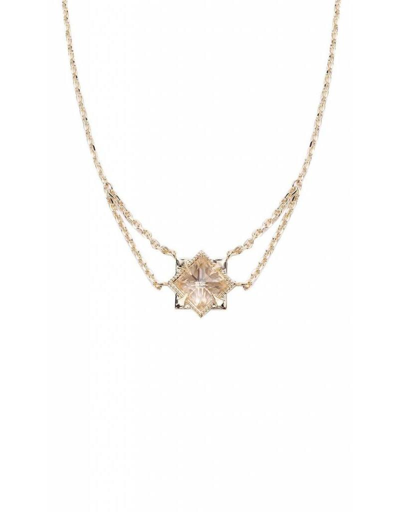 Natalie Wood Natalie Wood Gold Clear Quartz Runaway Necklace
