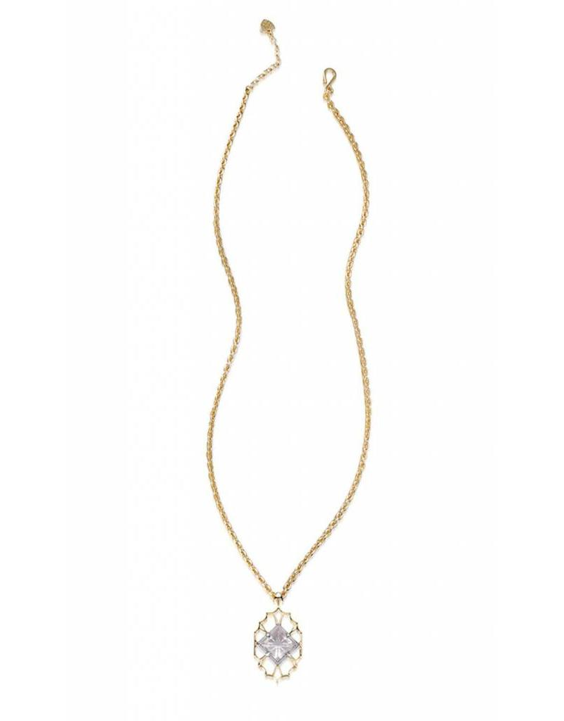 Natalie Wood Natalie Wood Clear Quartz Runaway Pendant Necklace on Gold