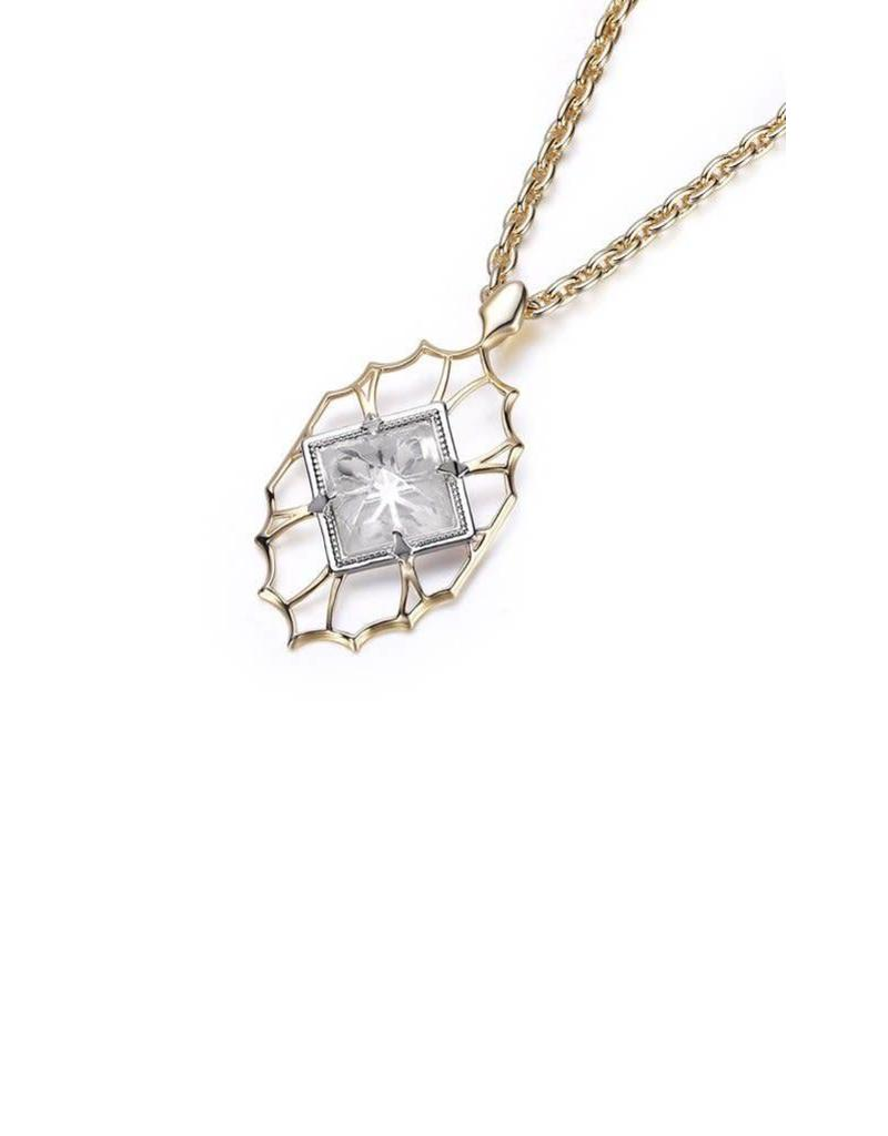 Natalie Wood Natalie Wood Clear Quartz Runaway Pendant Necklace on Gold
