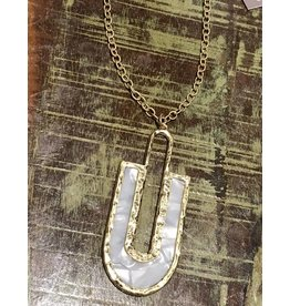 Gold and Ivory U Necklace
