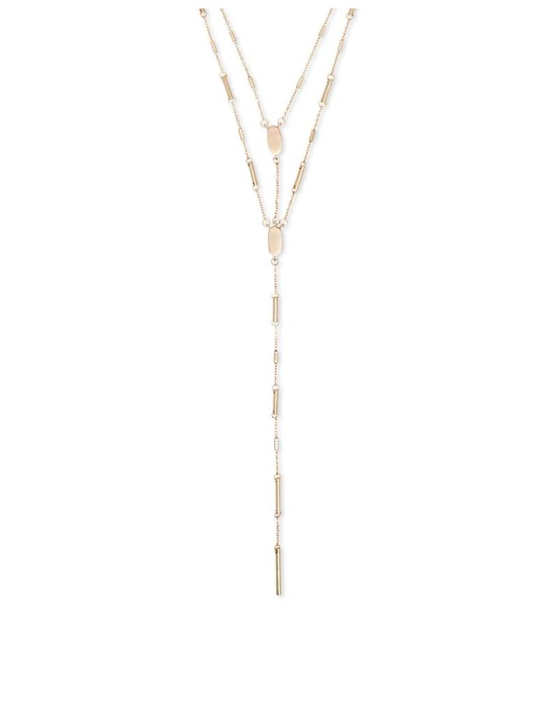 Kendra Scott Adelia Y-Necklace in Rose Gold