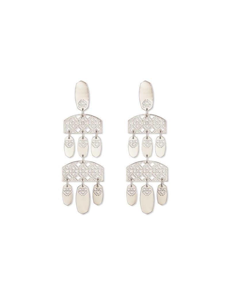 Kendra Scott Emmet Earrings in Silver Filigree