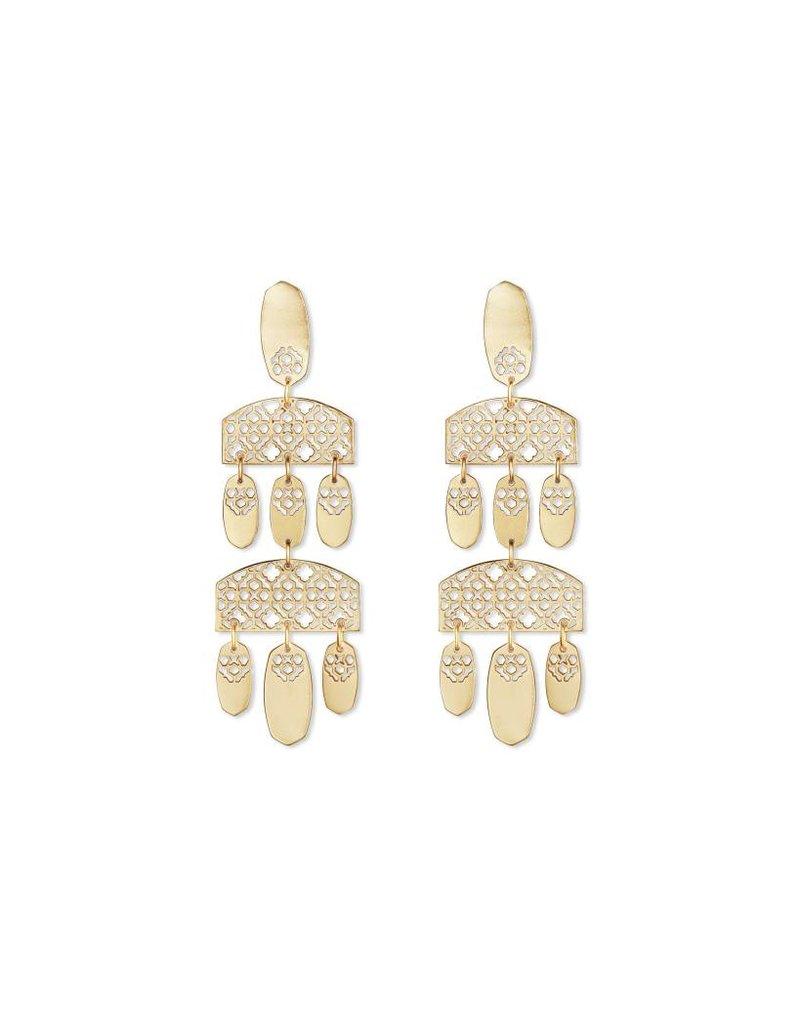 Kendra Scott Emmet Earrings in Gold Filigree