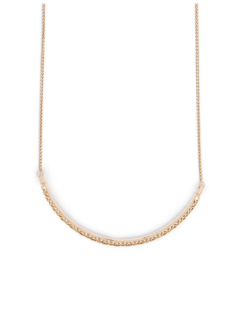 Kendra Scott Goldie Necklace in Rose Gold Filigree