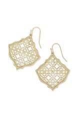 Kendra Scott Kirsten Gold Filigree Earrings
