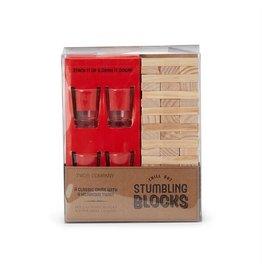 Stumbling Blocks Game & Shot Glasses
