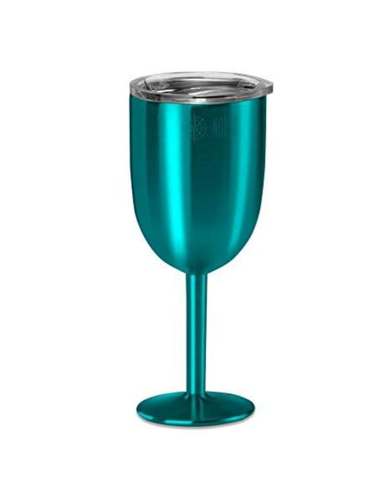 Stainless Insulated Wine Glass in Teal