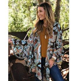 Bronze Paisley Mix Kimono