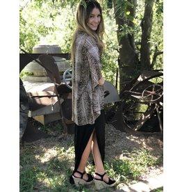 Brown Snake Kimono- Plus