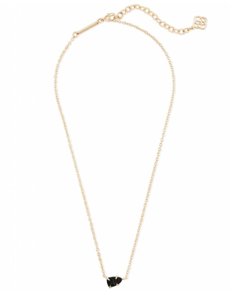 Kendra Scott Helga Necklace Gold Black Drusy