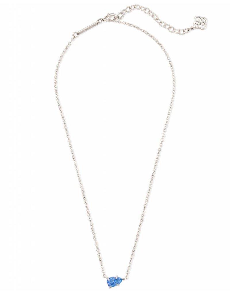 Kendra Scott Helga Necklace Silver Periwinkle Drusy