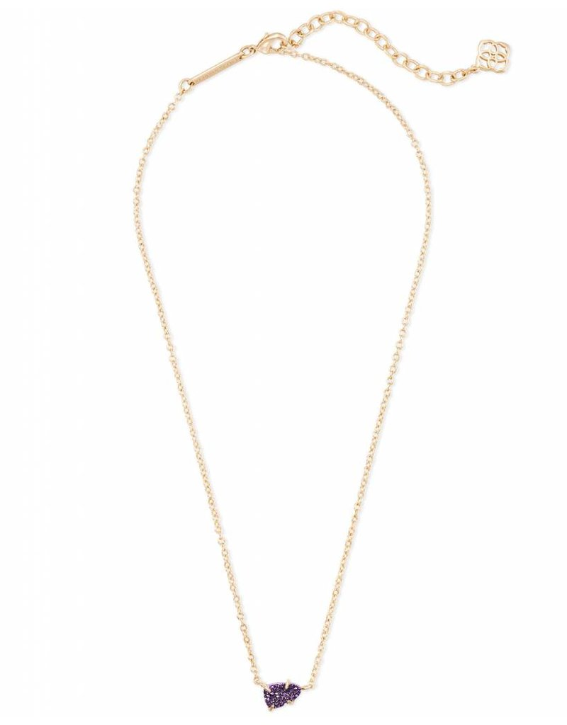 Kendra Scott Helga Necklace Gold Purple Drusy
