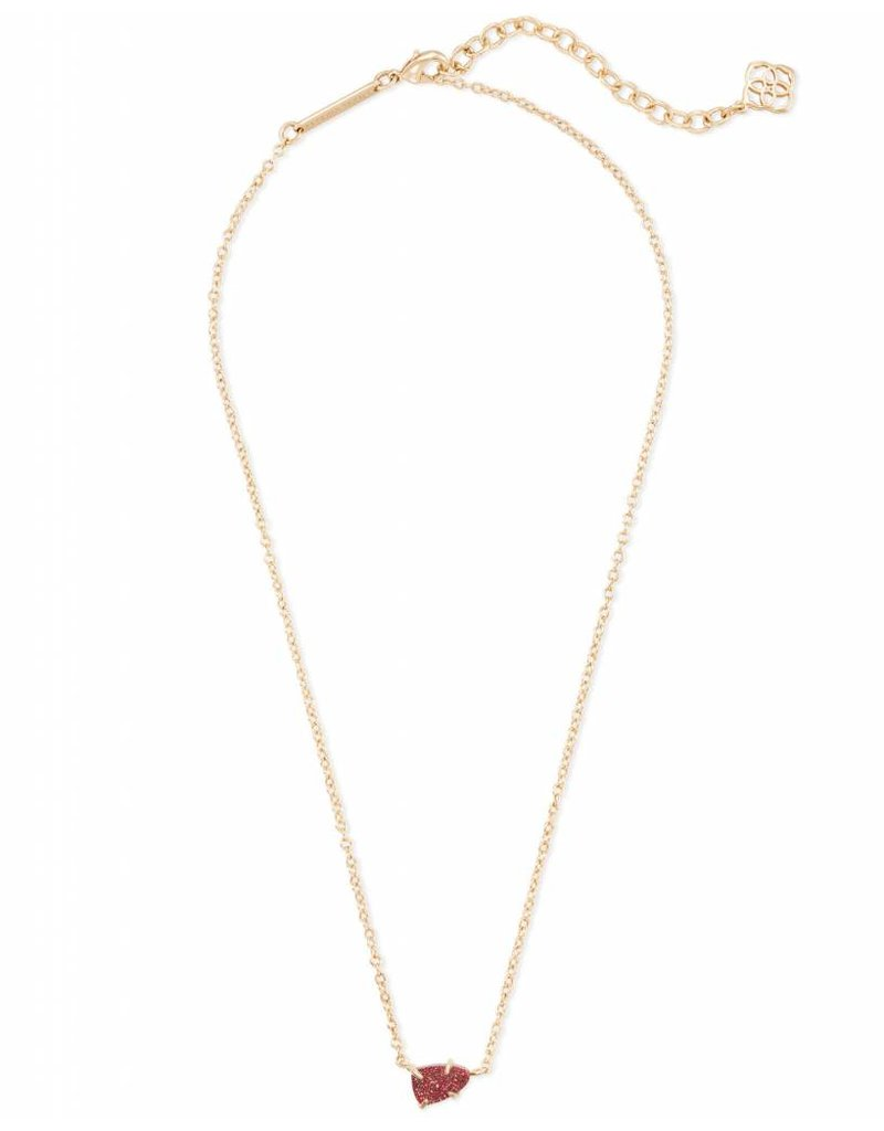Kendra Scott Helga Necklace Gold Bright Red Drusy