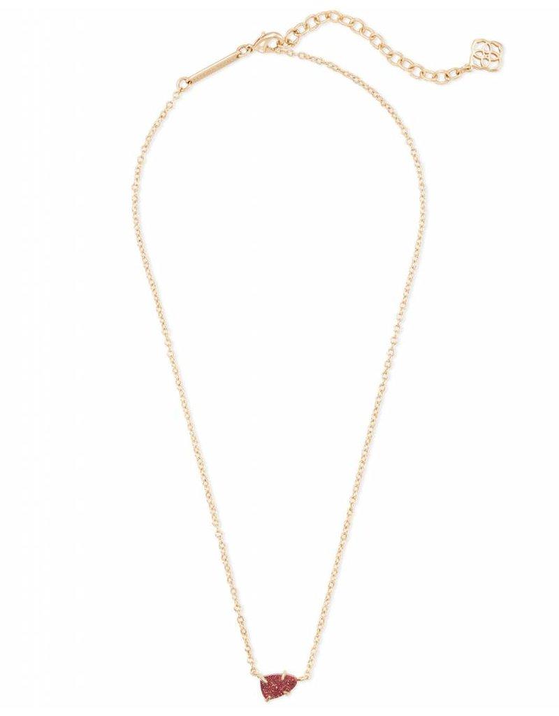 Kendra Scott Helga Necklace Gold Bright Red Drusy