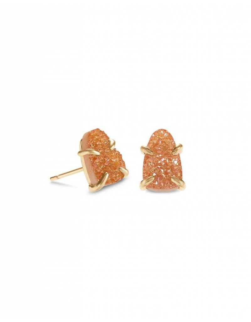 Kendra Scott Harriett Earring Gold Goldstone Drusy