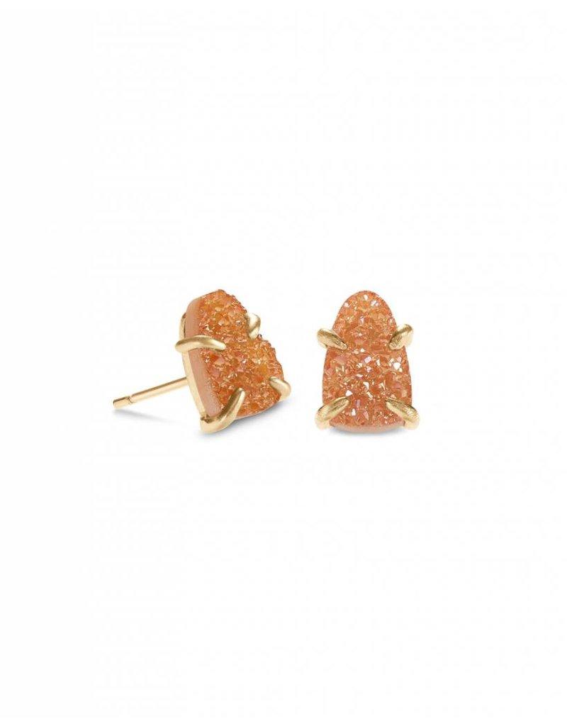 Kendra Scott Harriett Earring Gold Goldstone Drusy