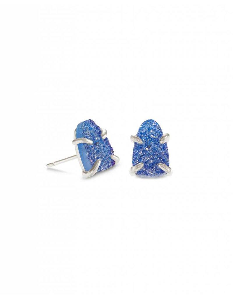Kendra Scott Harriett Earring Silver Periwinkle Drusy