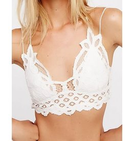 Free People Adella Lace Bralette- White
