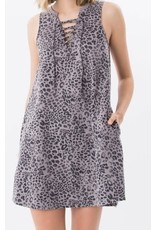Z Supply Lace Up Leopard Dress