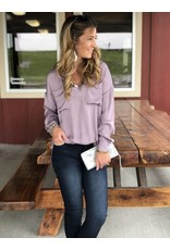 Free People Starry Dreams Pullover in Frosted Violet