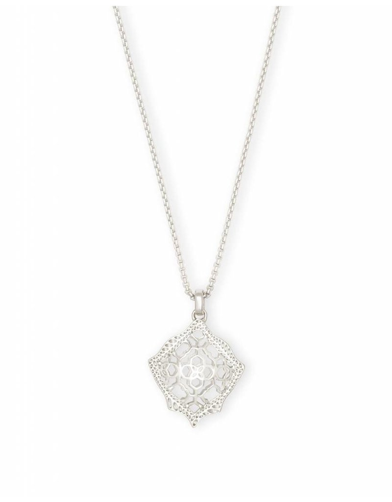 Kacey Necklace in Silver Filigree on Silver