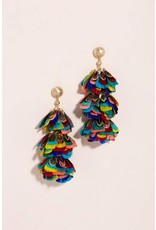 Kendra Scott Lenni Earrings in Gold Multi Feathers