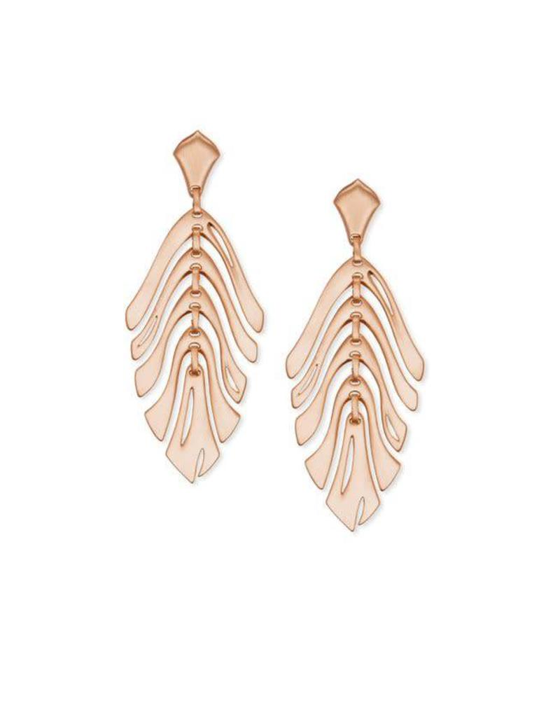 Kendra Scott Luca Earrings in Rose Gold