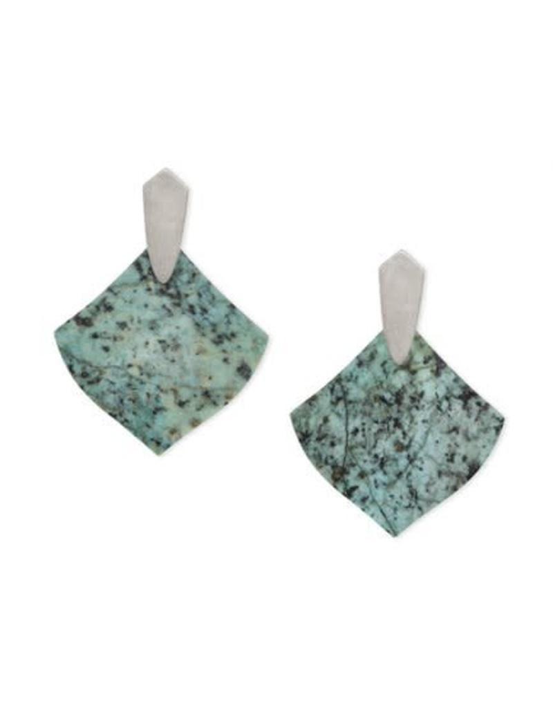 Kendra Scott Astoria Earrings in Silver African Turquoise