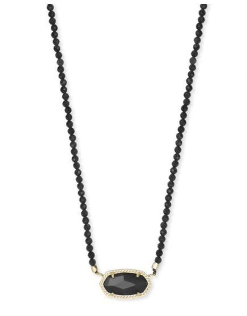 Kendra Scott Elisa Beaded Necklace in Gold Black Mix