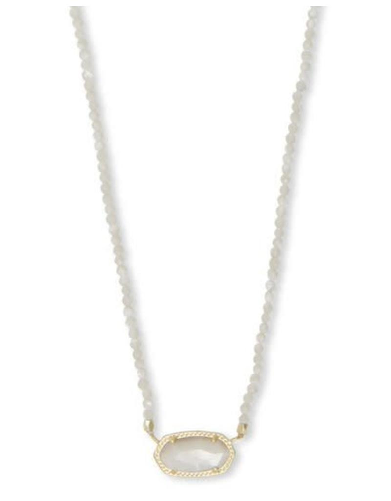 Kendra Scott Elisa Beaded Necklace in Ivory MOP on Gold