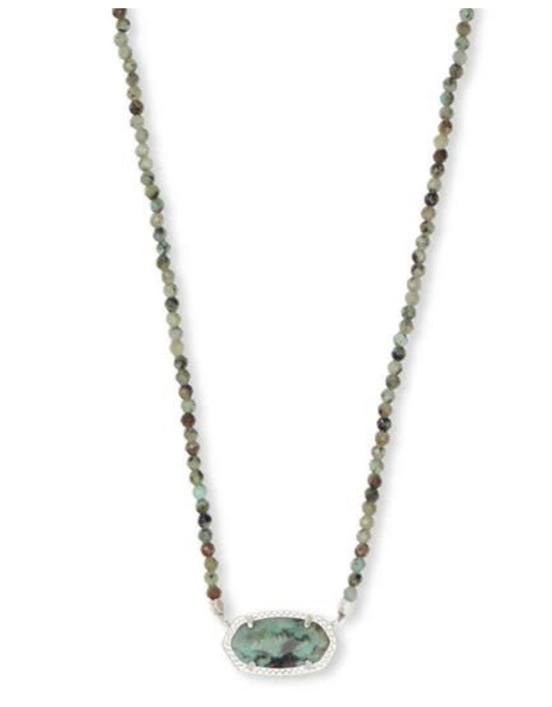 Kendra Scott Elisa Beaded Necklace in African Turquoise on Silver