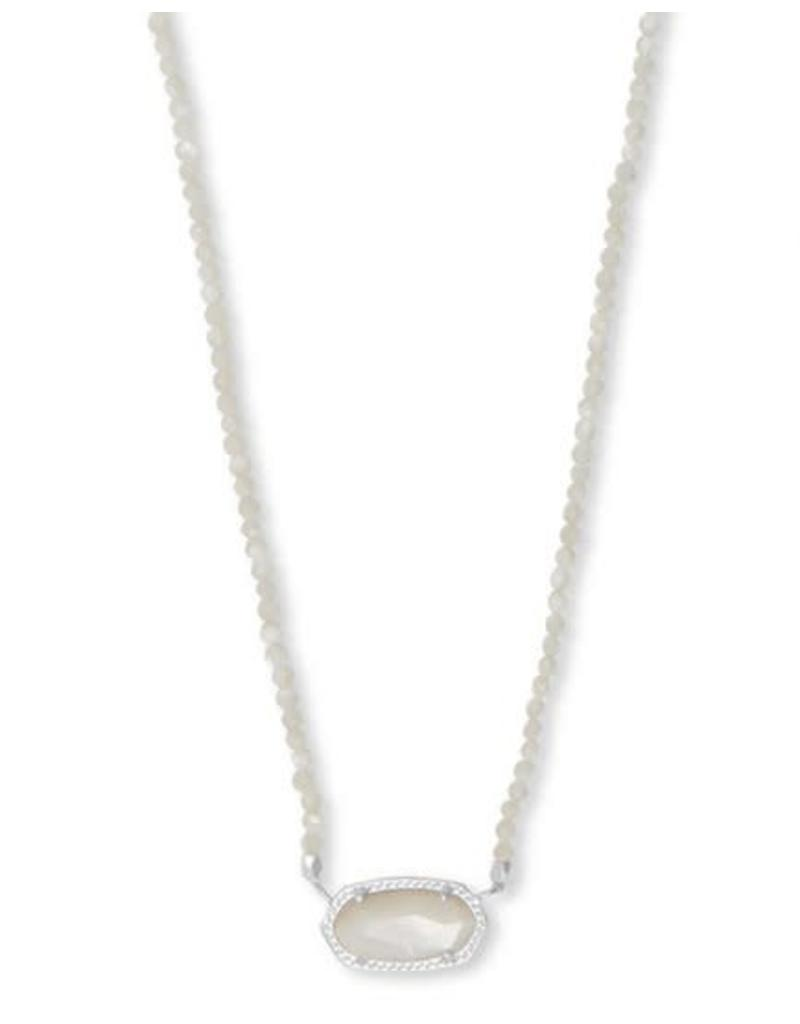 Kendra Scott Elisa Beaded Necklace in Ivory MOP on Silver