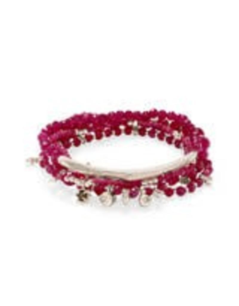 Kendra Scott Supak Bracelets in Rose Gold Maroon Jade