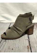 Dirty Laundry Tena Peep Toe Booties in Gray