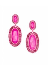 Kendra Scott Kaki Earrings in Matte Magenta Agate